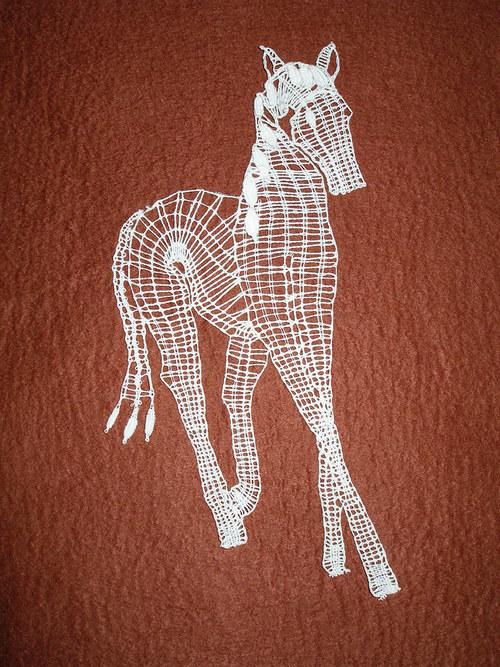 Paličkovaný obrázek - kůň