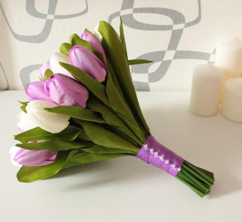 Jednoduchá tulipánová kytice