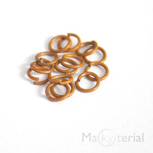 Spojovací kroužky oranžové - 6mm - 20 ks