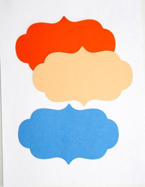 Velký závorkový štítek - 3 ks - barva dle přání
