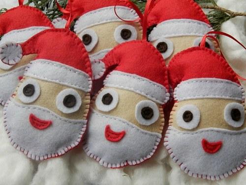 Vánoční dekorace - 6 kusů, santové