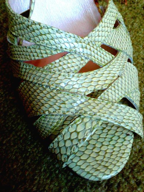 letní zelené botky 39