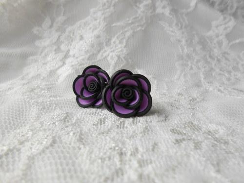 Fialové růžičky s lemem