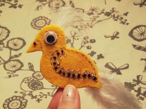 Ptáček - Žlutobílý