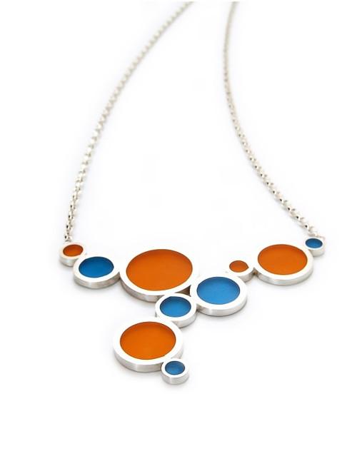 náhrdelník ze stříbra a epoxidu