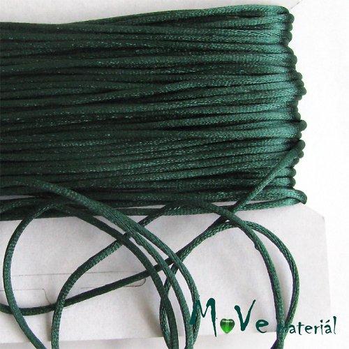 Šňůra Ø2mm saténová, zelená, 1m