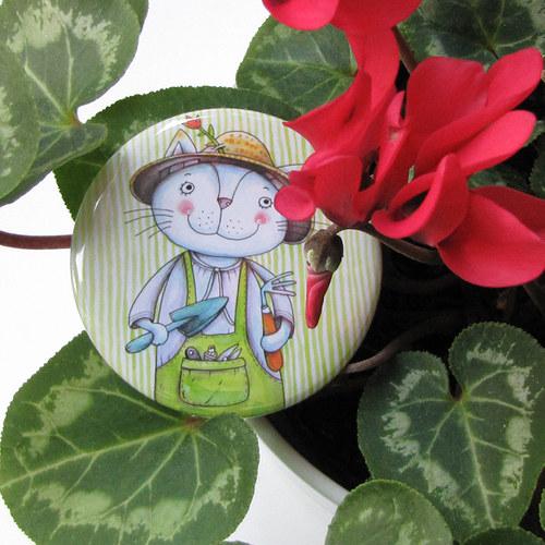 Zahradník... zrcátko s futrálkem