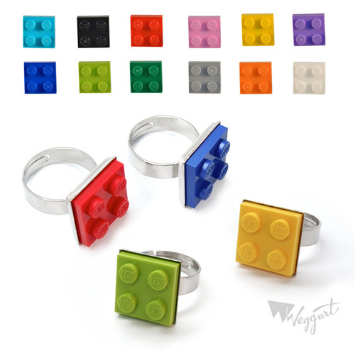 Prstýnky Lego / 1ks / Žlutý