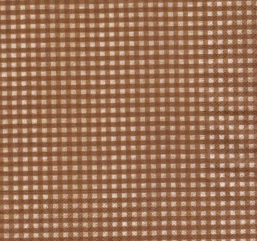 Ubrousek - čtverečky hnědé