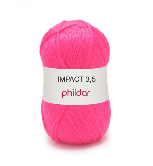 VÝPRODEJ Příze Phildar Impact 3,5 odstín Rose fluo