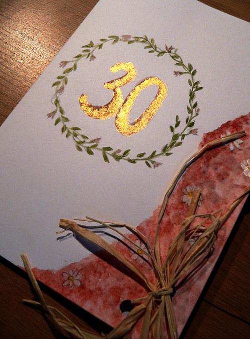 Blahopřání k třicetinám