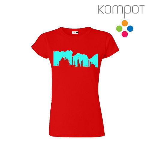Dámské tričko FABRIKA :: červené vel. S-XL