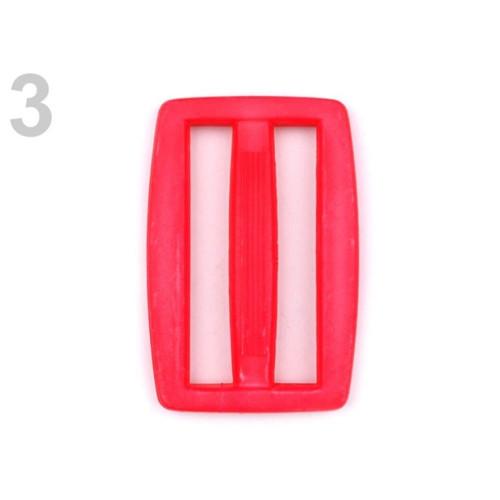 Průvlek š. 37 mm (10ks) - červená výrazná