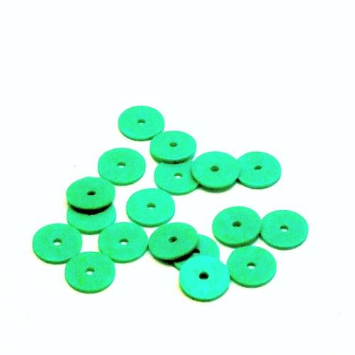 Flitry - kulaté,zelené matné, 6 mm, cca 200 ks