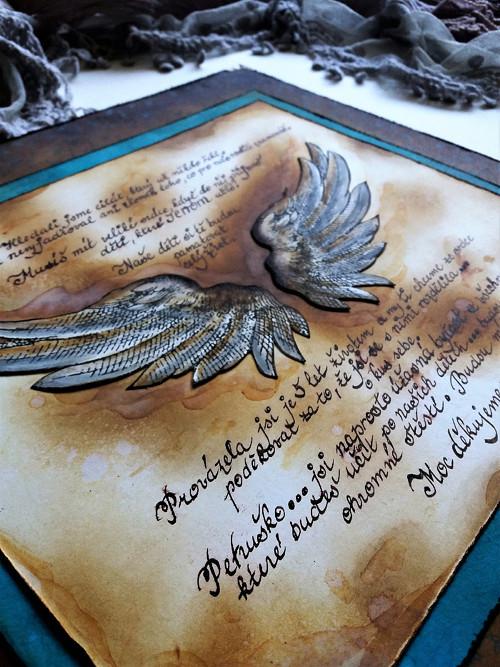 Velkoformátová Andělská křídla - s textem na přání