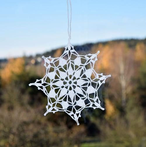 Vánoční hvězda 9 - bílá