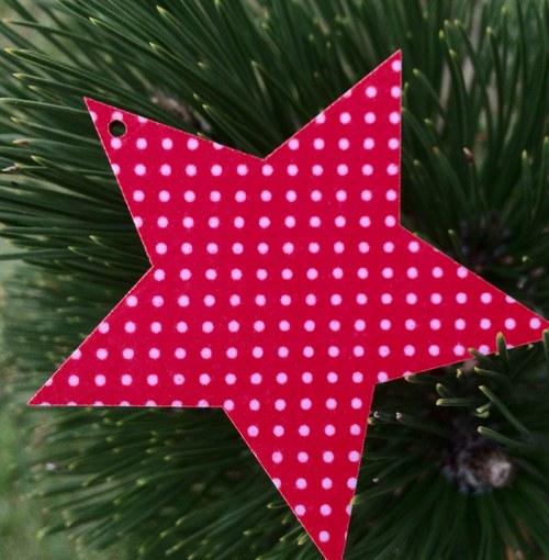 Dřevěná ozdoba hvězda