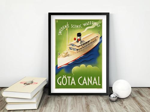 Vintage plakát Gota Canal