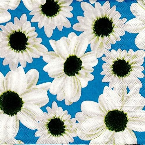 Ubrousek bílé květy - 1 ks