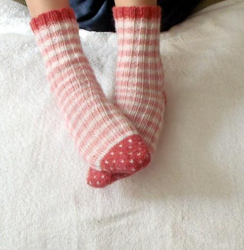 Ponožtičky romantika ružové