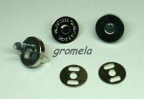 Magnetické zapínání platina 18 mm