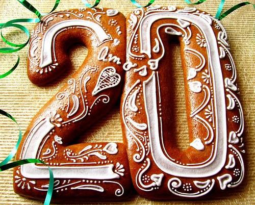 narozeninové číslo 20 - perník
