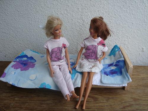 Peřinky pro Barbie a Kena