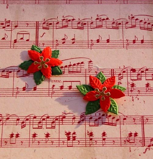 Vrstvená vánoční hvězda (malá) - 2 ks