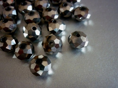 x15 / rondelky GREY 8x6mm / 10 kusů