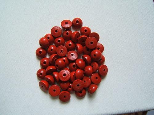Dřevěné korálky 12x6 mm 100ks
