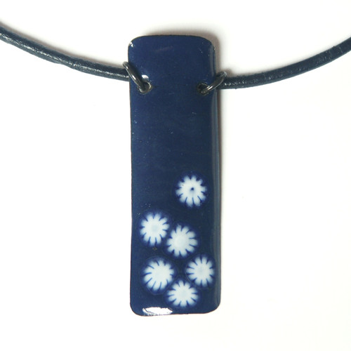 Sedmikráskový - smaltovaný náhrdelník