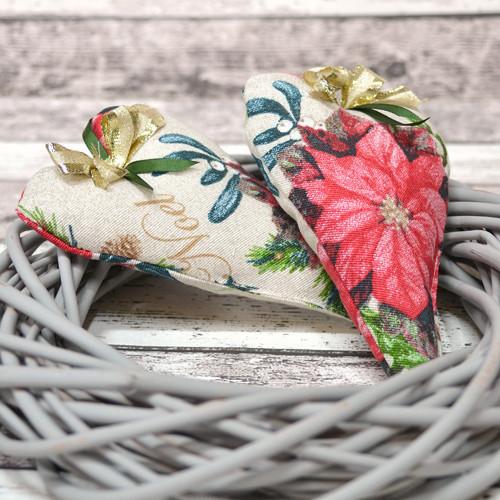 Srdíčko POINSETTIA béžové s květy
