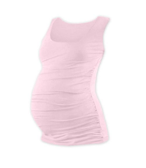Těhotenské tričko bez rukávu světle růžové