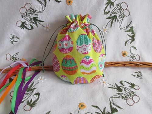 Žluté vajíčko malé - látkové pytlíky