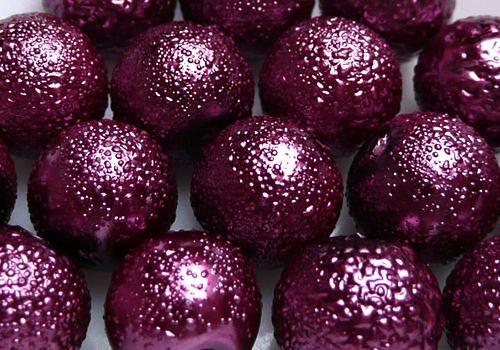 Vroubkované voskovky 8 mm - 10 ks - vínová