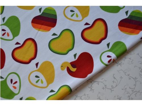 Barevná jarní jablíčka - teplákovina