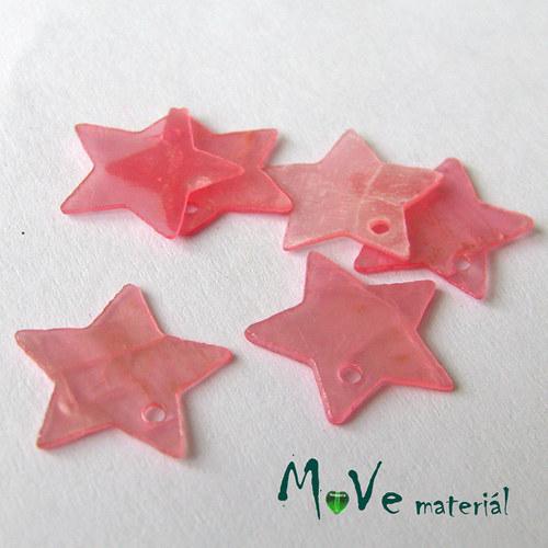 Perleťové penízky hvězdičky 13mm, 6ks, sv. růžové