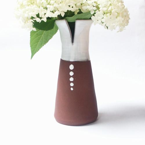 Pět puntíků - keramická váza