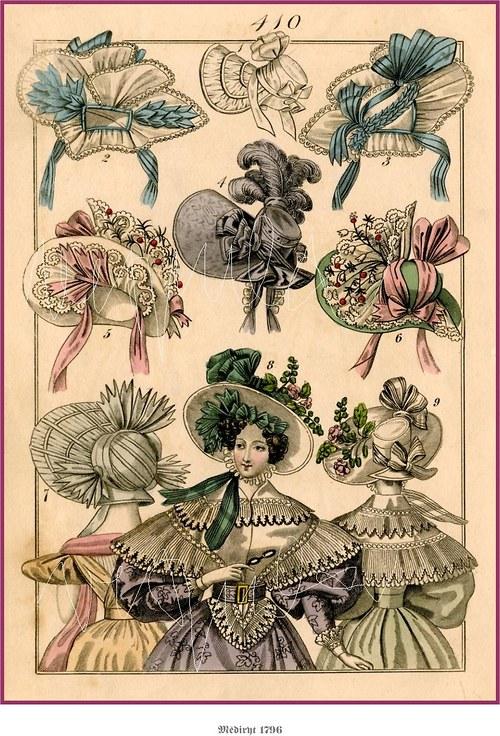 Dámské klobouky viktoriánského období
