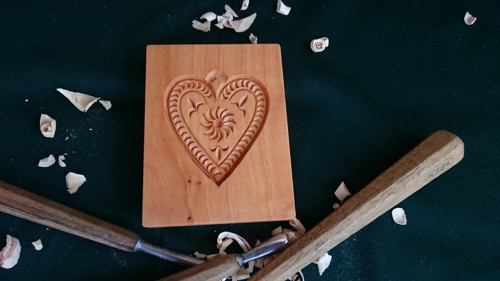 Dřevěná forma-srdíčko