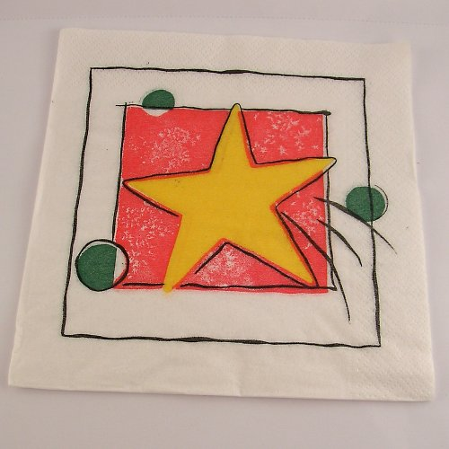Ubrousek na decoupage - abstraktní - 33 x 33 cm