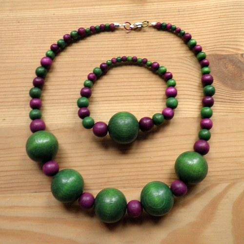 zelenofialové korále
