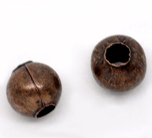kovový korálek měď 6mm/15ks