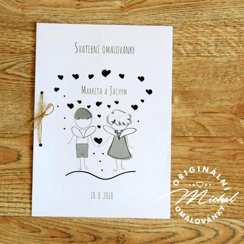 Svatební omalovánky - TYP 44
