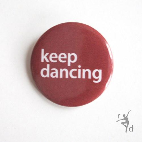 Placka KEEP DANCING