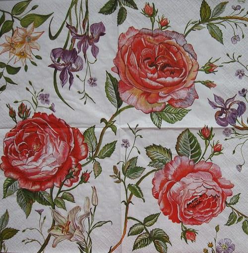 Ubrousky růže č.2143