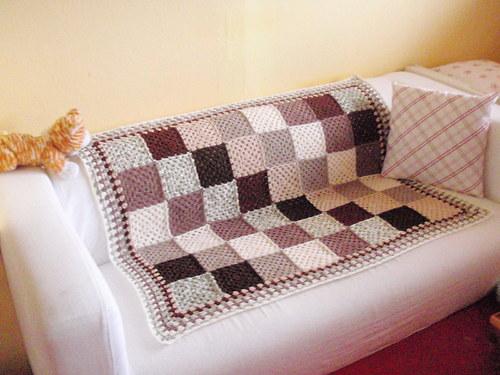 Háčkováná deka čokoládová :-)