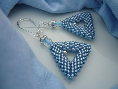 Náušnice Sapphire triangle