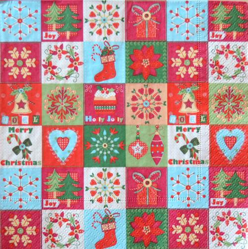 Vánoce V. - ubrousek 33x33 cm