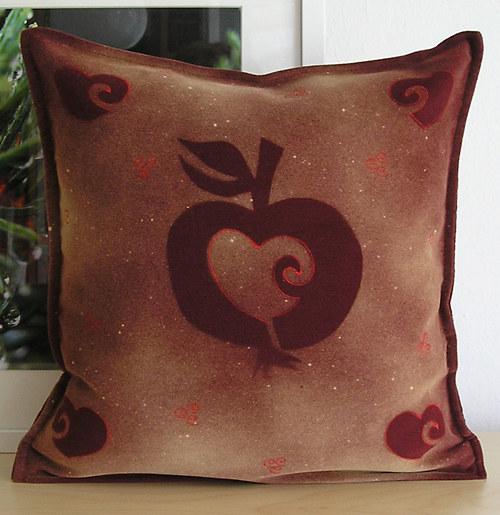 Jablíčkový/povlak cca 38x38 cm